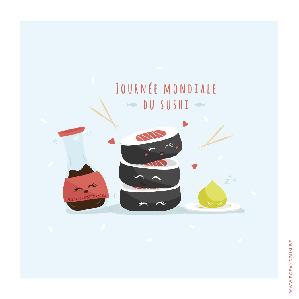 POP & GUM • Journée mondiale du SUSHI !